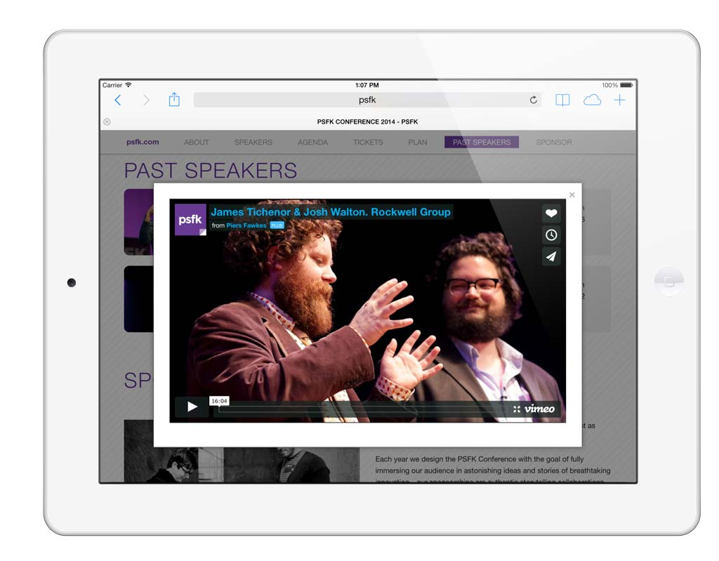 PSFK Conference Horizontal iPad - Video